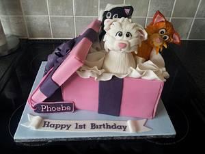 Kittens in a Box - Cake by Rachel White