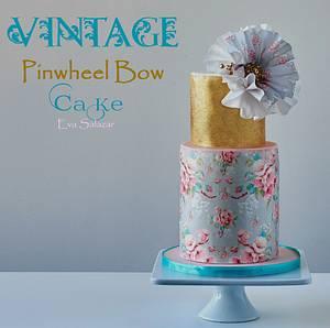 Vintage Pinwheel Bow Cake - Cake by Eva Salazar
