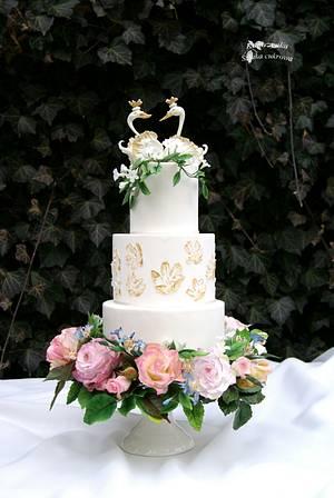 Wedding cake - Cake by Katarzynka