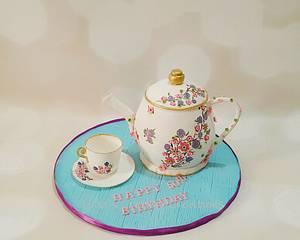 Teapot cake - Cake by Urvi Zaveri