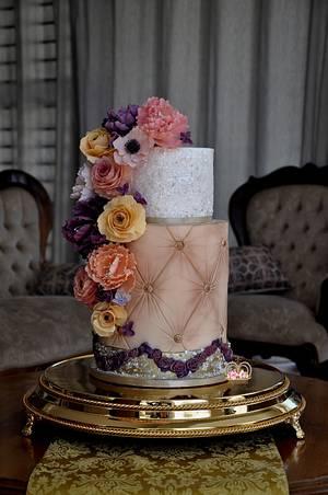 Vintage Glam - Cake by Sumaiya Omar - The Cake Duchess