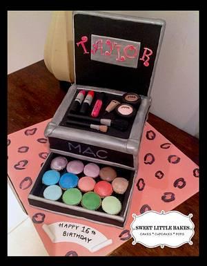 MAC Make-up travel case cake - Cake by SLBakes