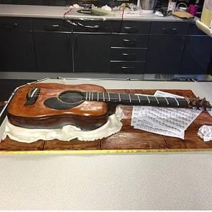 Acoustic Guitar - Cake by Bake Envy