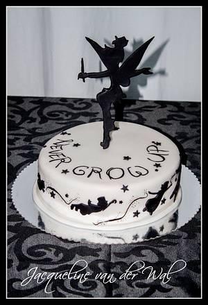 Nikita's Birthday .... Never Grow Up - Cake by Jacqueline