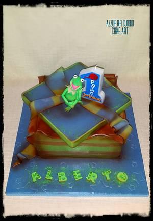 Kermit says: Happy B-day!!!!! - Cake by Azzurra Cuomo Cake Art