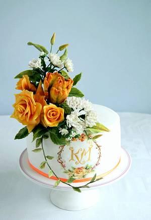 Cake for wedding anniversary  - Cake by Katarzynka