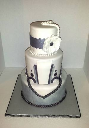 1920s Vintage Inspired  - Cake by lilforgetcakes