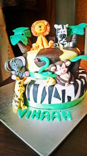 Jungle Mania - Cake by Mihika