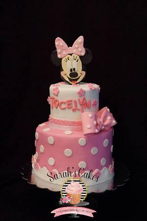 Minnie mouse cake - Cake by Sarah's Cakes