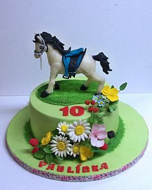 White horse  - Cake by Zuzana Bezakova