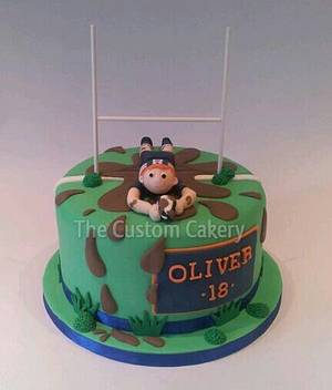 Rugby 18th - Cake by The Custom Cakery