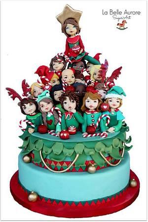Christmas Children Cake - Cake by La Belle Aurore