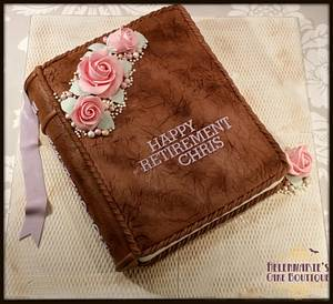 Leather Bound Book Cake - Cake by Helenmarie's Cake Boutique
