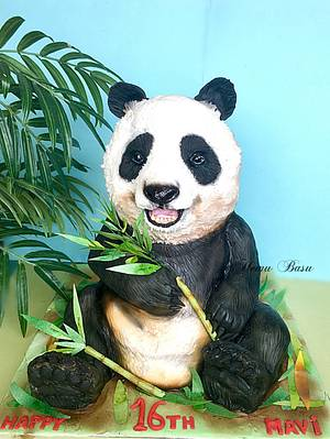 Panda 🐼  - Cake by Hemu basu