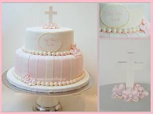 Elegant Baptism Cake - Cake by It's a Cake Thing