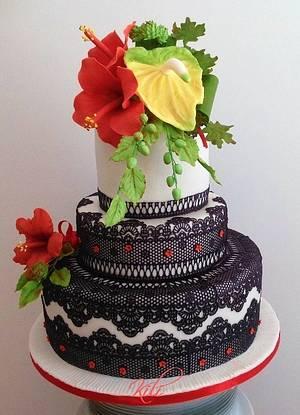 Cake with lace - Cake by kili