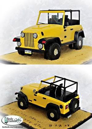 Yellow Jeep - Cake by TrulyCustom