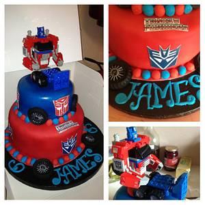 Transformers cake - Cake by susan joyce