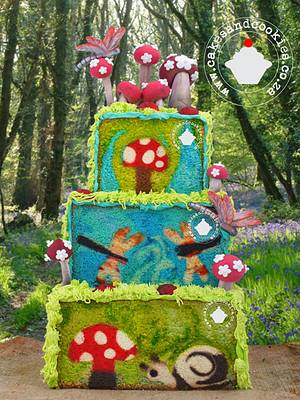 """""""Dragonflies In The Forest"""" - Cake by Terry"""
