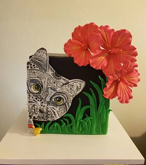 Cat in the wild - Cake by WendyWaller