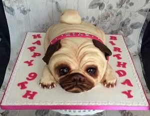 pug - Cake by Corleone