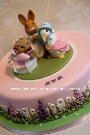 Beatrix Potter Christening cake - Cake by Zoe's Fancy Cakes