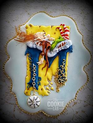 Saying hello to the new year..... and good-bye to the old one! - Cake by The Cookie Lab  by Marta Torres