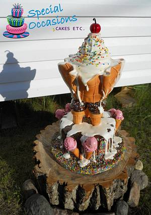 Sweet Summer Collab - Ice Cream Lover's Dream - Cake by Special Occasions - Cakes, Etc