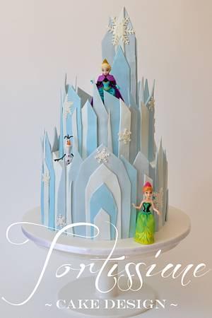 Ice Castle (Frozen inspired ice castle) - Cake by Tortissime Cake Design