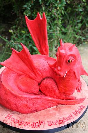 Red Dragon - Cake by Ballderdash & Bunting