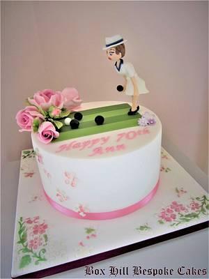Jigsaw @ Bowling Cake. - Cake by Noreen@ Box Hill Bespoke Cakes