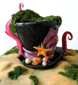 mad hat octopus - Cake by Lovely Sugar Art by Katarzyna Duda