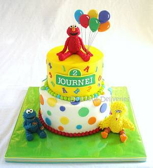 Sesame Street Cake - Cake by DeliciousDeliveries
