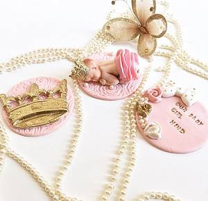Royal Baby Girl Announcement Cupcake Topper - Cake by Shafaq's Bake House