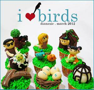 I love Birds - Cake by Diana