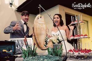 Hanging Redfish Cake - Cake by Sweet Elizabeth Cake Design