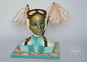 Venetian Carnival Steampunk Avaiator(Carnival Cakers) - Cake by Heather McGrath