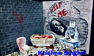 Caker buddies collaboration:sitcom theme:Zee horror show - Cake by krishnasinghvi