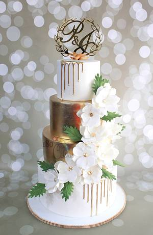 P&J's Wedding - Cake by Joonie Tan