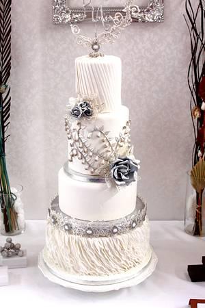 Silver Brilliance Wedding cake - Cake by Artym