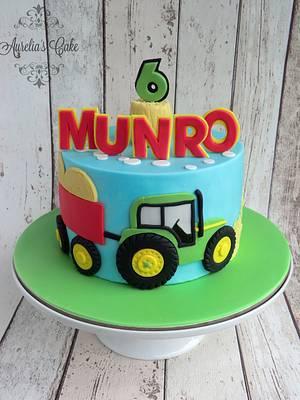 Tractor cake - Cake by Aurelia's Cake