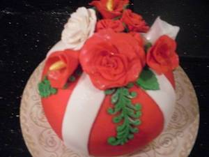 Christmas Ornament Cake - Cake by Ms. Shawn