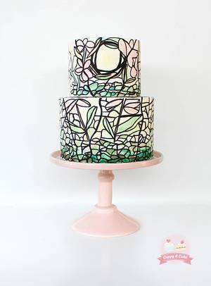 Stained glass cake - Cake by Cuppy & Cake