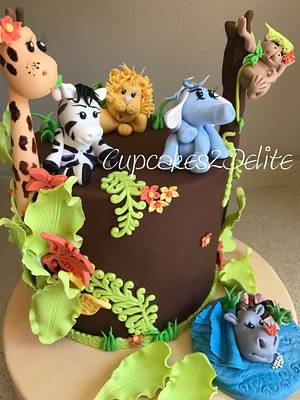 Baby Animals Cake - Cake by Cupcakes2Delite