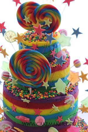 Taste the Rainbow - Cake by jill chant
