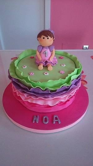 First birthday cake  - Cake by silvia Valdearenas