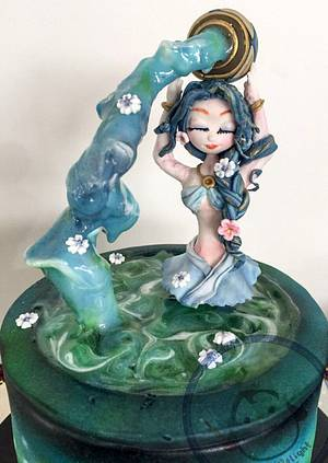 Annette Aquarius Girl - Cake by DixieDelight by Lusie Lioe