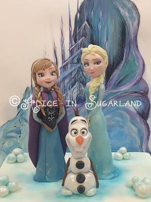 Frozen. Again! - Cake by Chicca D'Errico