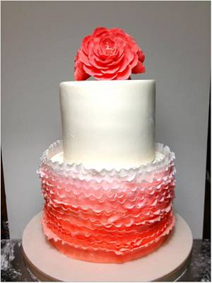 Ombre Ruffles - Cake by SweetAsSugar