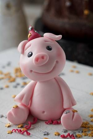 Happy New Year Pig good luck  - Cake by Agnes Linsen
